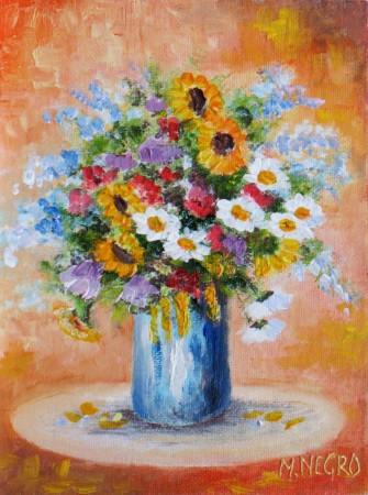Vaso con fiori mario negro pittore for Vasi di fiori dipinti